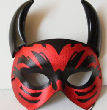 Red & Black Lucifer Mask